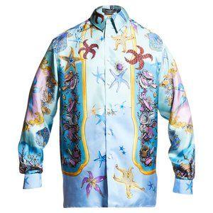 VERSACE Trésor de la Mer Silk Button-Up Shirt